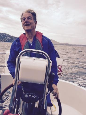 Naftali on a blustery sail.